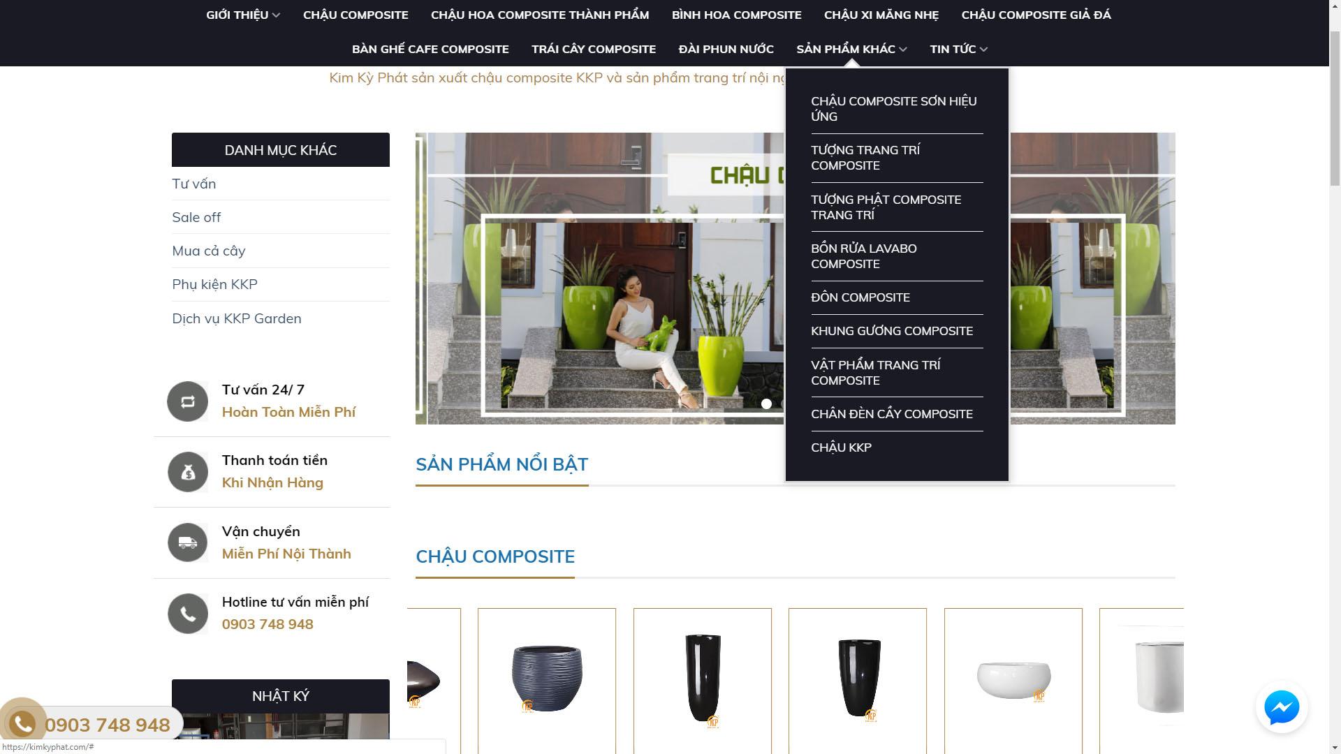 hướng dẫn mua hàng chậu composite