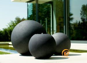 bộ chậu cây và đài phun nước composite giả đá